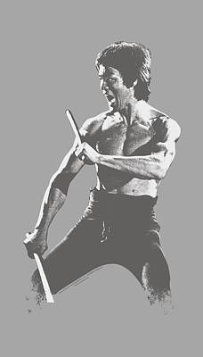Bruce Lee Digital Art - Bruce Lee - Chinese Characters by Brand A