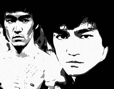 Kung Fu Digital Art - Bruce Lee  by Dan Sproul