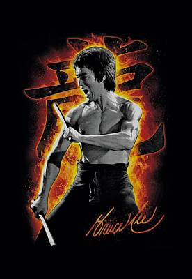Bruce Lee Digital Art - Bruce Lee - Dragon Fire by Brand A