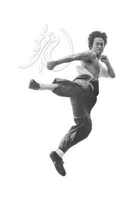 Bruce Lee Digital Art - Bruce Lee - Flying Kick by Brand A
