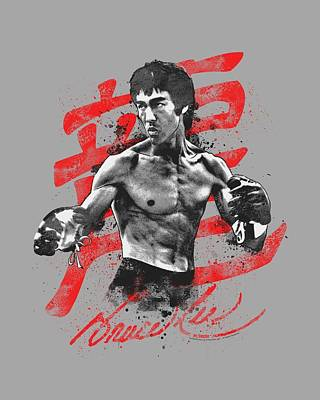Bruce Lee Digital Art - Bruce Lee - Ink Splatter by Brand A