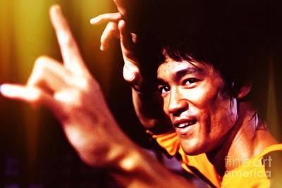 Luis Digital Art - Bruce Lee by Jonas Luis