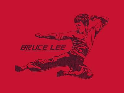 Bruce Lee Digital Art - Bruce Lee - Line Kick by Brand A