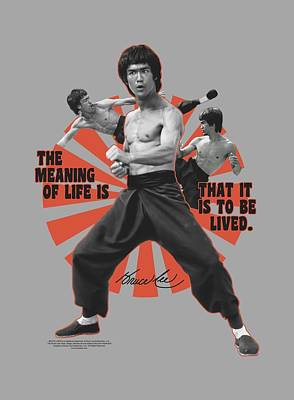 Bruce Lee Digital Art - Bruce Lee - Meaning Of Life by Brand A