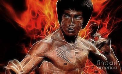 Bruce Lee Art Print by Doc Braham