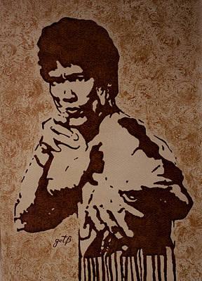 Bruce Lee Original Coffee Painting Original