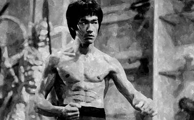 Kung Fu Drawing - Bruce Lee Painting by Florian Rodarte