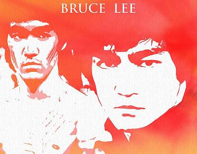 Kung Fu Digital Art - Bruce Lee Poster by Dan Sproul