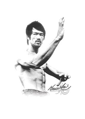 Bruce Lee Digital Art - Bruce Lee - Serenity by Brand A