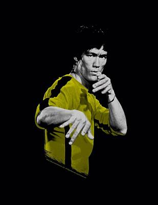 Bruce Lee Wall Art - Digital Art - Bruce Lee - Suit Of Death by Brand A