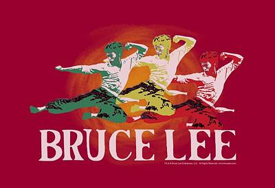 Bruce Lee Wall Art - Digital Art - Bruce Lee - Tri Color by Brand A