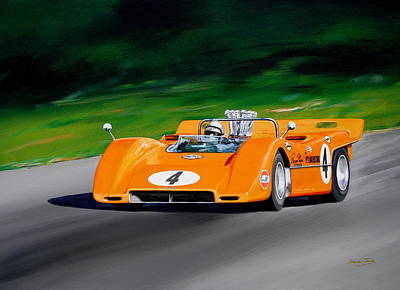 Painting - Bruce Mclaren  Mclaren M8a by Steve Jones