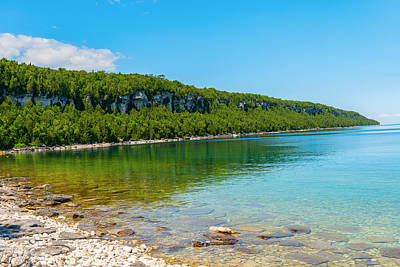 Photograph - Bruce Peninsula Georgian Bay Coastline And Crystal Clear Water by Marek Poplawski