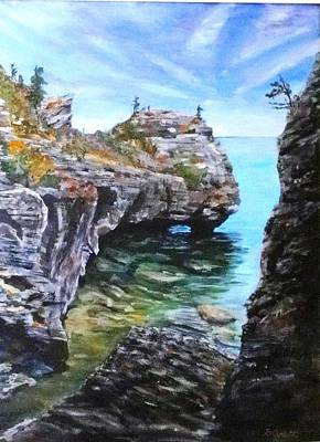 Windblown Painting - Bruce Peninsula Vista by Brent Arlitt
