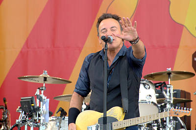 Bruce Springsteen 4 Art Print by William Morgan
