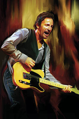 Musicians Mixed Media - Bruce Springsteen Artwork by Sheraz A