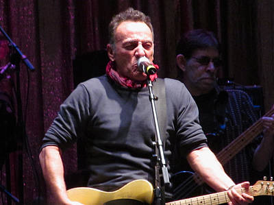 The Paramount Theatre Photograph - Bruce Springsteen At Light Of Day by Melinda Saminski
