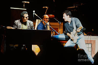 Bruce Springsteen Billy Joel And Paul Schaffer Print by Chuck Spang