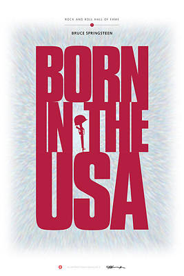 Digital Art - Bruce Springsteen - Born In The Usa by David Davies