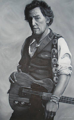 Born In The Usa Painting - Bruce Springsteen I by David Dunne