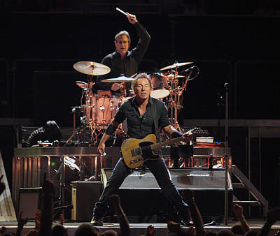 Bruce Springsteen In Concert Art Print
