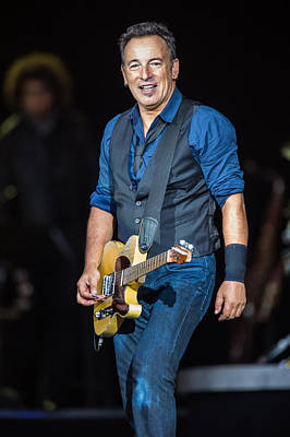 Festival Photograph - Bruce Springsteen by Georgia Fowler