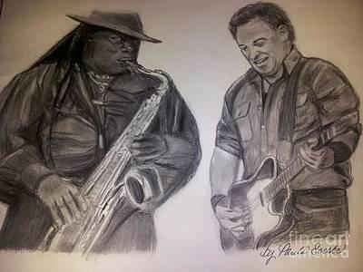 Springsteen And Clemmons Original by Paula Soesbe