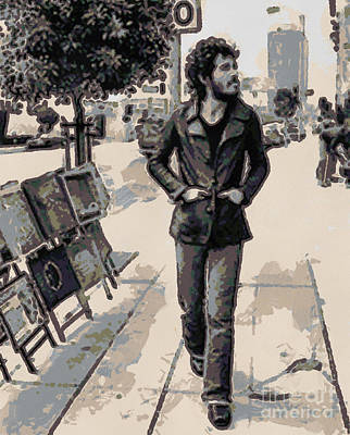 Digital Art - Bruce Springsteen by Paulette B Wright