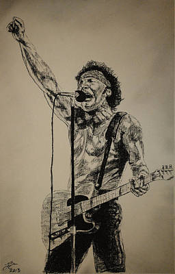 Bruce Springsteen Drawing - Bruce Springsteen by Tim Brandt