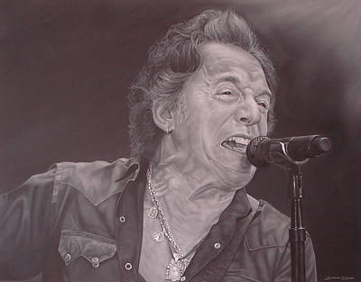 Bruce Springsteen Art Painting - Bruce Springsteen V by David Dunne