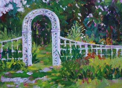 Painting - Brucemore Garden Gate by Tara Moorman
