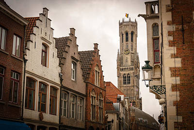 Brugge Photograph - Bruges Belgium Bell Tower  by James Udall