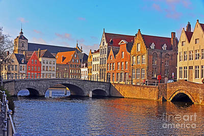 Photograph - Bruges Bridge by Elvis Vaughn