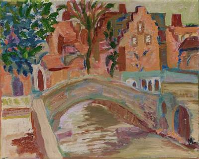 Painting - Bruges Bridge by Mary LaFever