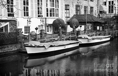 Photograph - Bruges Canal Boats by John Rizzuto