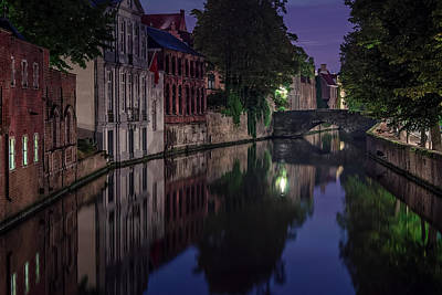 Bruges Photograph - Bruges Canal Near Blind Donkey Alley  by Joan Carroll