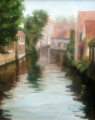 Painting - Bruges by Erin Rickelton
