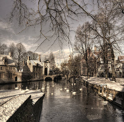 Belgium Photograph - Bruges In Christmas Dress by Yvette Depaepe
