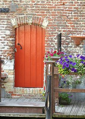 Photograph - Bruges Red Door by Matt MacMillan