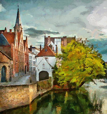 Old Town Digital Art - Brugge 2 by Yury Malkov