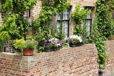 Brugge Balcony Art Print by Carol Groenen