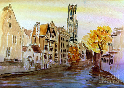 Remodernist Painting - Brugges Belgium by Donna Walsh