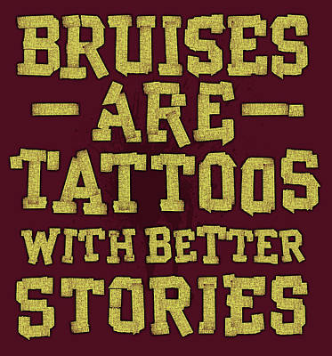 Softball Painting - Bruises Are Tattoos by Jim Baldwin