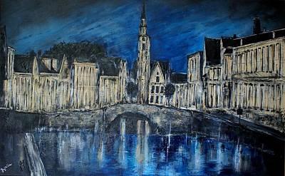 Bruges Belgium Original by Lloyd  Walker