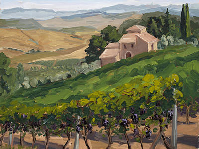 Winery Painting - Brunello Di Montalcino by Mary Giacomini