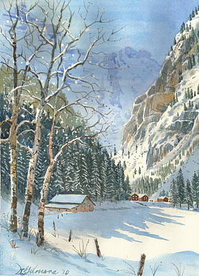 Painting - Brunni Valley In Canton Uri by David Gilmore