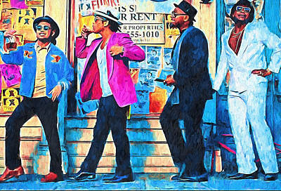 Sightseeing Digital Art - Bruno Mars - Uptown Funk 8 by Yury Malkov