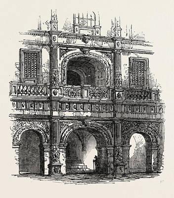 Portal Drawing - Brunswick Portal Of A House by English School