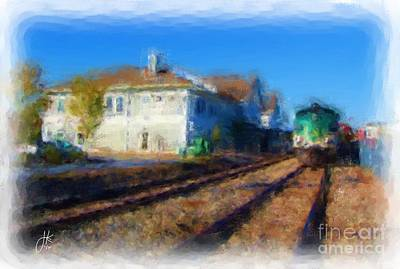 Painting - Brunswick Train Station 1080 20141006 by Julie Knapp