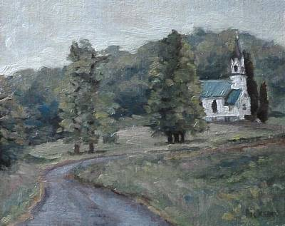 Painting - Brush Creek Church by Jeff Dickson